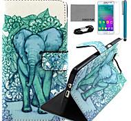 coco fun® blu modello carino elefante pu custodia in pelle con la pellicola e cavo USB e lo stilo per la galassia a3
