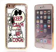 Keep Calm and Be Cool Design Luxury Hybrid Bling Glitter Sparkle With Crystal Rhinestone Case for iPhone 6