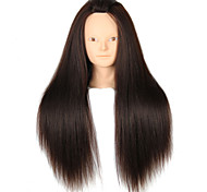 YAKI Synthetic Hair Salon Female Mannequin Head No Make-up