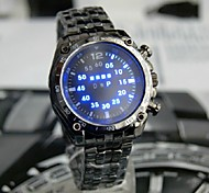 TVG Man LED Black Light Waterproof Steel Band Watch