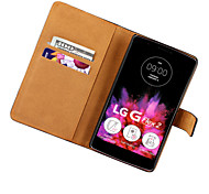 LG G Flex2 Plastic / Genuine Leather Full Body Cases / Cases with Stand Solid Color case cover