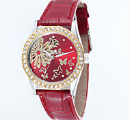 Women's Round Dial Leather Strap Automatic self-winding Watch Wrist Watch (Assorted Colors)
