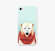 Red Scarf Dog Pattern PC Phone Back Case Cover for iPhone5C