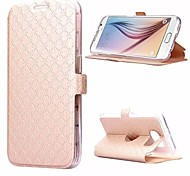 BIG D  Diamond Lattice Full Body Flip Case for Samsung Galaxy S6 G9200(Assorted Colors)