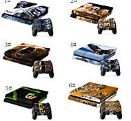 Vinyl Design Skins for Gaming Console and Free Controller Sticker Decal for PS4