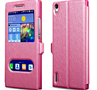 British Style silk Pattern Double Window Mobile Phone Protective Sleeve for Huawei P8(Assorted Colors)