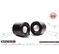 Allspark ® USB-Mini-Multimedia-Lautsprechersystem (schwarz)
