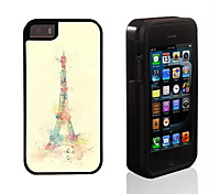 The Eiffel Tower Design 2 in 1 Hybrid Armor Full-Body Dual Layer Shock-Protector Slim Case for iPhone 5/5S