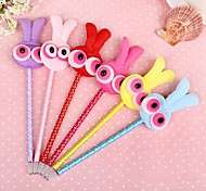 Fluffy Cartoon Style Gel Pen (Random Color)