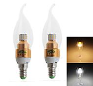 Zweihnder E14 3W 280LM 3000/6000K 30x3014 SMD LEDs Cool/Warm White Candle Light (AC 100-240V,2Pcs)