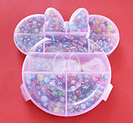 Fashion Acrylic DIY Beads Assorted Color and Shape in Plastic Box Kids Toy Gift For Necklace Bracelet Jewelry Making