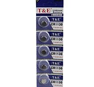 T&E CR1130 High Capacity Button  Batteries (5PCS)