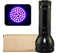 Lampes Torches LED / Lampe de poche UV (Etanche / Résistant aux impacts / Surface antidérapante / Lumière ultraviolette / Détecteur de