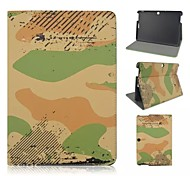 Camouflage Patterns PU Leather Full Body Case with Card Slot for Asus Memo Pad 10 ME103K