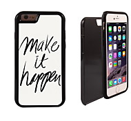Make it happen Design 2 in 1 Hybrid Armor Full-Body Dual Layer Shock-Protector Slim Case for iPhone 6 plus