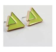 la nouvelle marque mini-fashionlove2sis colorés boucles d'oreilles texture triangle * 1pair