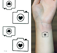 2016 New  Painting Waterproof Temporary Camera Tattoo Paste,3PCS