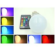 E26/E27 9 W 3 X High Power LED 240-300 LM  RGB/Color-Changing Remote-Controlled Globe Bulb AC 85-265 V