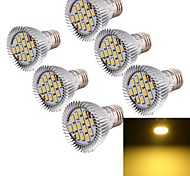 8W E26/E27 Focos LED MR16 15 SMD 5630 700 lm Blanco Cálido Decorativa AC 85-265 V 6 piezas