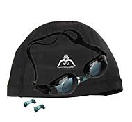 JIE JIA Super Anti-Fog Goggles J2659-1 (Black) + HONGRUIKE Hon Sharp Grams Cloth Caps (Black)