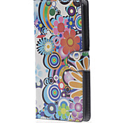 Colorized Flowers Magnetic Leather Case with Stand and Card Slots for LG Leon 4G LTE H340N