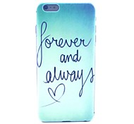 COCO FUN® Green Word Pattern Hard PC IMD Back Case Cover for iPhone 6 Plus