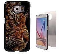 caso duro fresco design de alumínio tigre para Samsung Galaxy S6