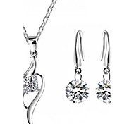 Z&X® Alloy Europe Zircon Jewelry Set Party/Daily 1set(Including Necklaces/Earrings)