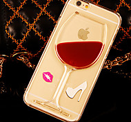 Three-dimensional liquid PC Phone Case for iPhone 6