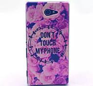 Flowers  Pattern PC Hard Case for Sony Xperia M2