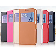 New Luxury View Window Ultra Flip Leather Case For Galaxy S6 G9200 Slim Stand Holster Mobile Phone Cover S6