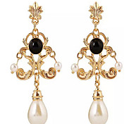 Cusa Elegant Court Pearl Earrings
