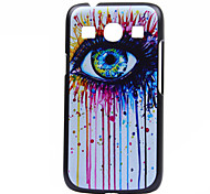 Eye Pattern  Printing Black Frosted PC Material Phone Case for Samsung Galaxy Ace 4 G357FZ