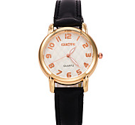 Women's Fashion Watch Casual Watch Quartz Leather Band Black White Blue Red Orange Green Purple