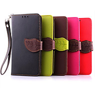 Luxury PU Leather Skin Flip Stand Case For LG G3Mini Phone Shell Leaf Pouch Wallet Handbag+Lanyard+Card Slot
