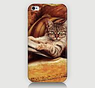 Gläser Katze-Musterfall der rückseitigen Abdeckung für phone4 / 4s Fall