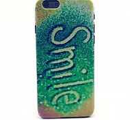 Green Smile Pattern PC Material Phone Case for iPhone 6