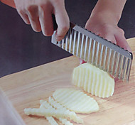 Stainless Steel Potato Dough Waves Crinkle Cutter Slicer Home Kitchen Vegetable Chip Blade Knife