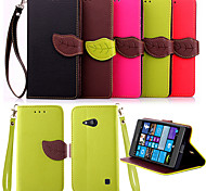 High Quality Wallet Card Holder PU Leather Flip Case Cover for Nokia Lumia 730(Assorted Colors)