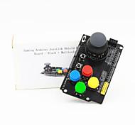 Gaming Arduino Joystick Shield Expansion Board - Black + Multicolored