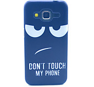 Disdain Don't Touch My Phone Pattern PC Hard Case forSamsung Galaxy Core Prime G360 G360H G3606 G3608 Back Cover