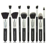 10pcs Black Cosmetic Brush Set Professional Makeup Tools Makeup Brush Sets Bottom Makeup Brush Sets