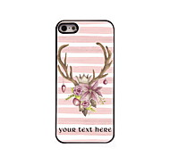 Personalized Gift Lovely Elk Design Aluminum Hard Case for iPhone 5/5S