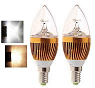 2 шт динь яо E14 15w 5LED початка 400-450lm 2800-3500 / 6000-6500K теплый белый / холодный белый свечи накаливания AC 85-265V