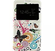 motif papillon cuir PU étui de téléphone portable pour Samsung Galaxy j7