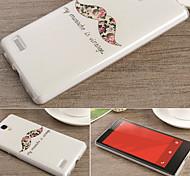 para el diseño de casos nota Xiaomi redmi de dibujo coloreado o patrón del tpu material del contraportada