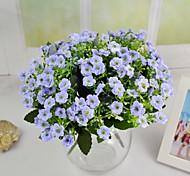 """Home Purple Light Purple Ivory Artificial MiLan Flowers 2 Bouquets/Lot Stem 10.24"""""""