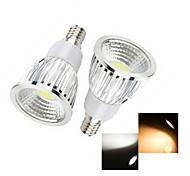 Focos LED Ding Yao E14 6W 1 COB 50-150 LM Blanco Cálido / Blanco Fresco AC 100-240 V 2 piezas