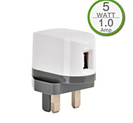 Certificado CE cargador usb sola pared, cara enchufe uk, salida de 5v 1a, para el iphone 5 / 5s / 5c iphone 6 / más iphone 3 / 3G / 3GS