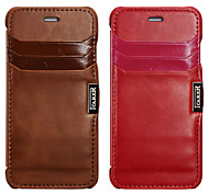 Genuine Leather And Full Body Case And Card Slot And Clamshell case For Apple iPhone6 4.7 Inch